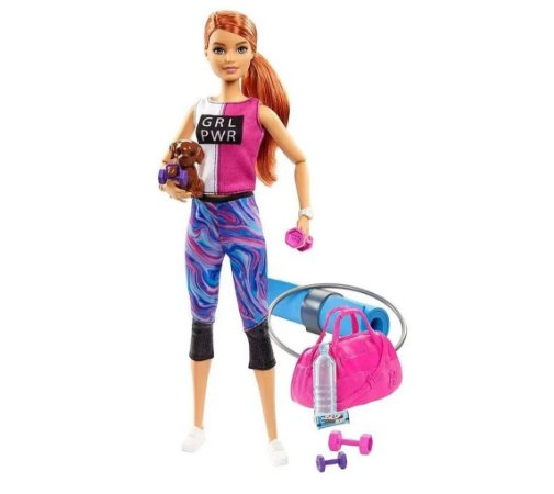 Boneca Barbie Fashionista dia de Spa Fitness Mattel