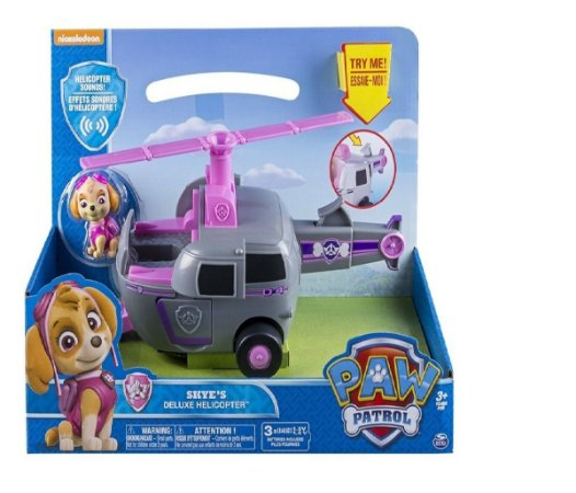 Patrulha Canina Veículo Skye Deluxe Helicopter Com Som e Luz