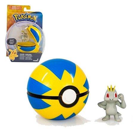 Mini Figura Pokémon - Machop e Quick Ball - Tomy