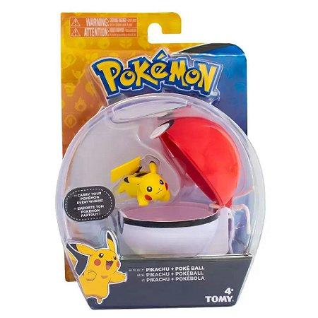 Pokémon Mini Figura  Pokémon Pikachu e Poke Ball  Tomy