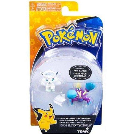 Bonecos Colecionáveis Pokémon Alola Vulpix vs Crabrawler