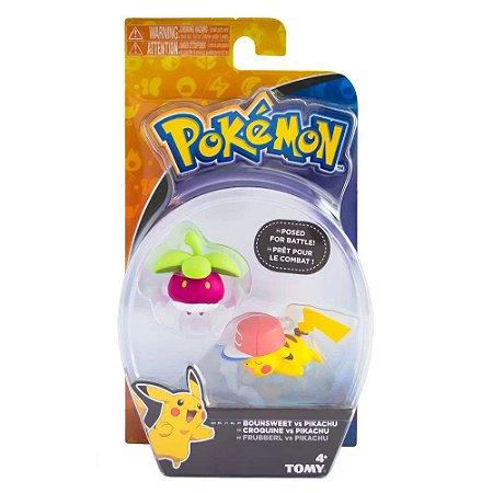Pokémon Figura de Ação Bounsweet Vs Pikachu