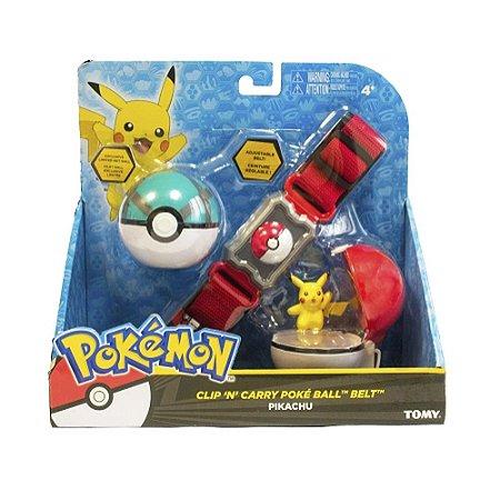 Cinto Com Pokébola E Quick + Pikachu - Pokémon Tomy