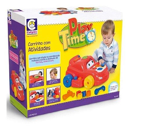 Carrinho de atividades Play Time Cotiplás