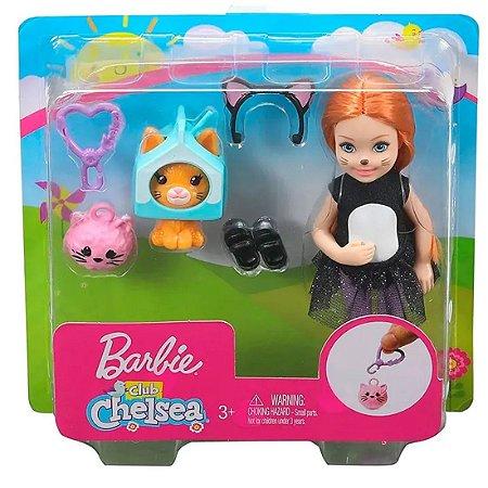 Boneca Barbie Club Chelsea com Festa do gatinho