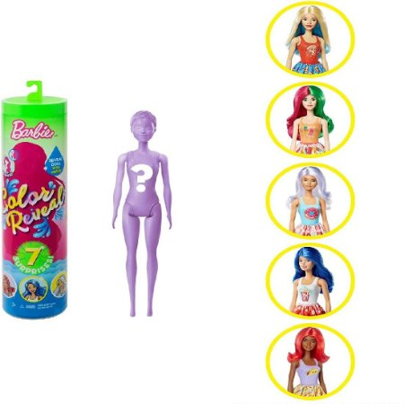 Barbie Color Reveal 7 Estilo Surpresa Gastronomia Mattel