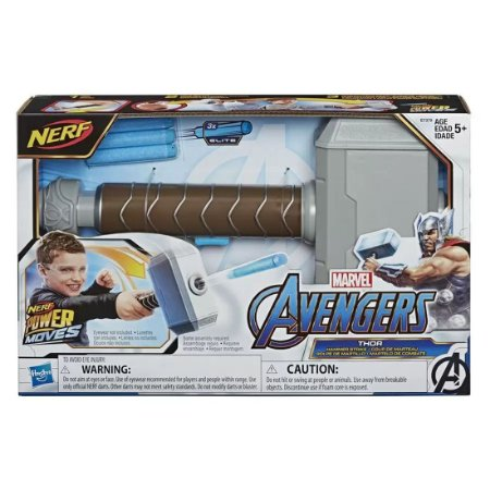 Nerf Power Moves Avengers Martelo Thor