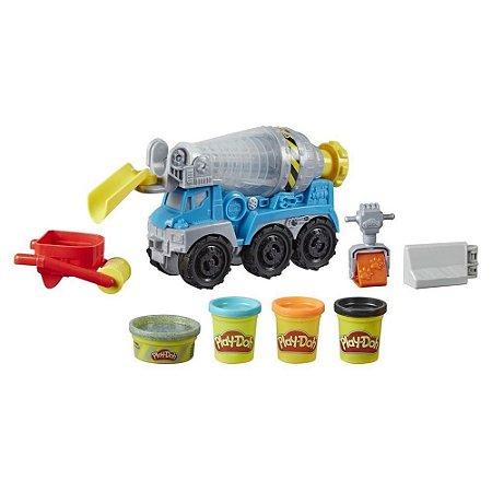 Massinha Play Doh Wheels Caminhão de Cimento Hasbro