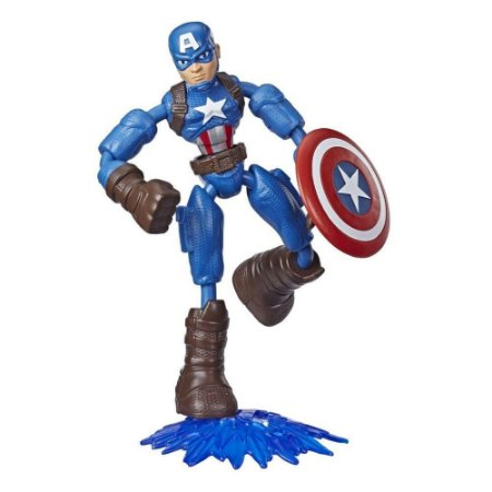 Boneco Capitão America Bend and Flex Marvel Avengers Hasbro