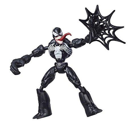Boneco Venom Bend and Flex Marvel Homem Aranha Hasbro
