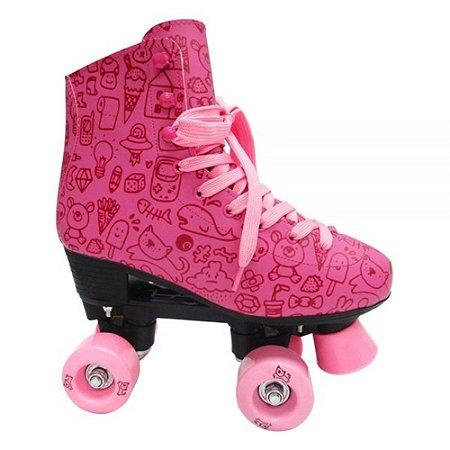 Patins Roller Estilo New Rosa n. 32 DM Toys
