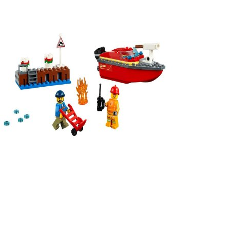LEGO City 60213 Fogo lateral na doca