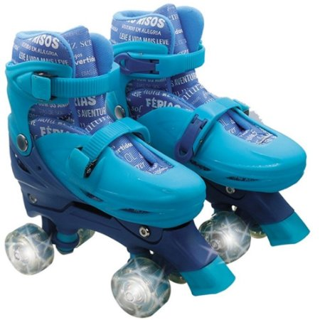 Patins Good Feeling Color Com Luz n.35 a 38 UnikToys