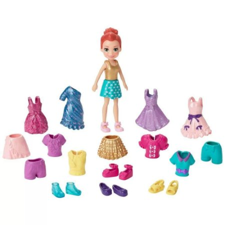 Boneca Polly Pocket Lila Fashion em Xadrez