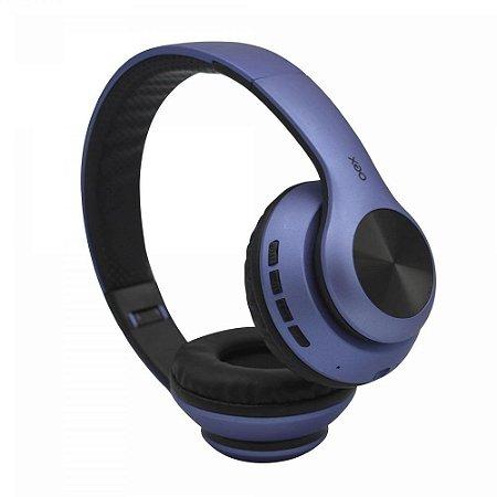 Fone Bluetooth Dobrável Headset Glam Azul OEX