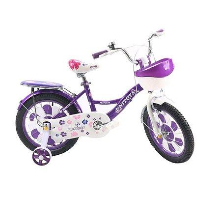 Bicicleta Infantil Princess Aro 16 Roxa Unitoys