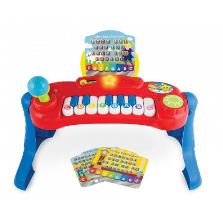 Teclado Bebê Musical Piano Baby Music Center WinFun