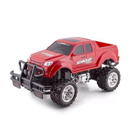 Carrinho de Controle Remoto Pick Up Vermelho Monster Truck