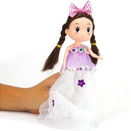 Mini Boneca Princesa Polibrinq