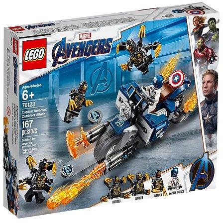 Lego Avengers Capitão America e o Ataque Outriders 76123