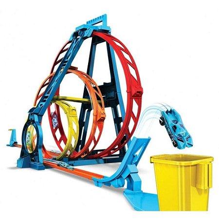 Pista Hot Wheels Track Builder Looping Triplo Mattel