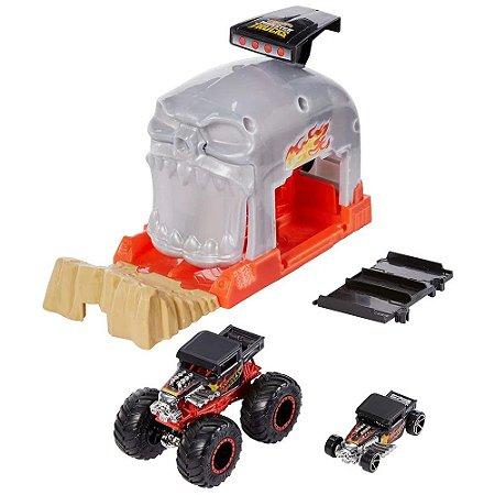 Hot Wheels Monster Truck Lançador Team Bone Shaker Mattel