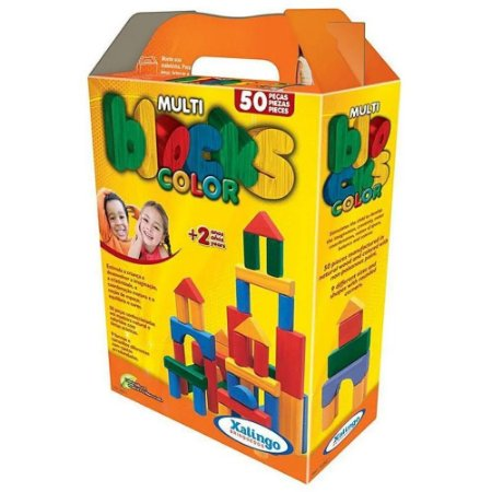 Multi Blocks Color 50 Peças Xalingo