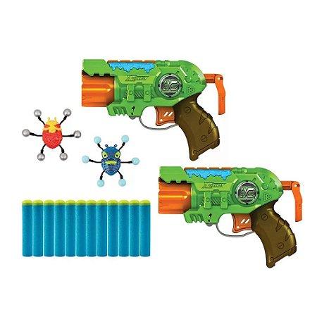 XShot Bug Attack Predator Com 2 Lançadores de Dardos Candide