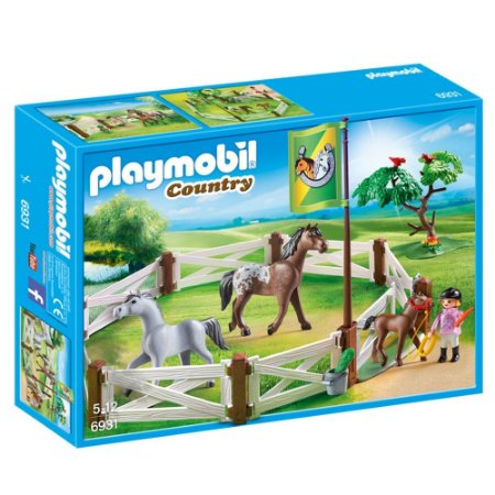 Cercado Com Cavalos Country Playmobil