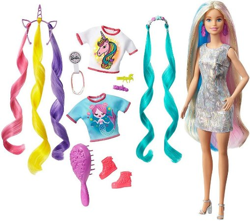 Boneca Barbie Penteados de Fantasia Mattel