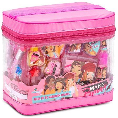 Kit de Maquiagem Infantil com Bolsa Antialérgica Polibrinq
