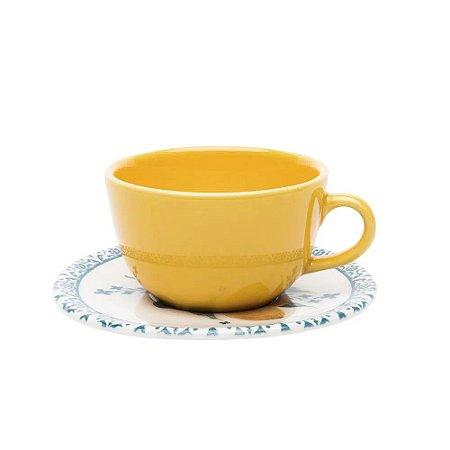 Xícara de Chá com Pires Avulsa Siciliano Oxford 200 ml