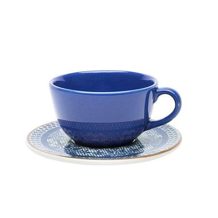 Xícara de Chá Café com Leite 200 ml Jeans Avulsa Oxford