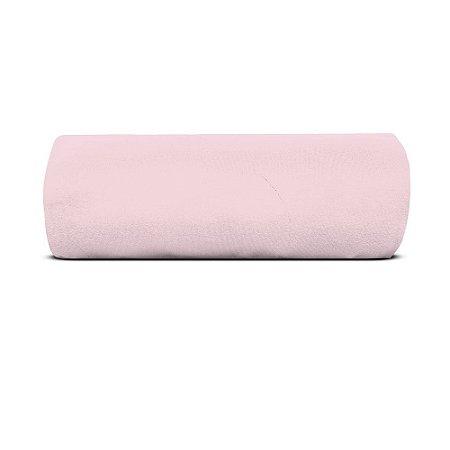 Lençol Casal Especial C/ Elástico Malha Soft Rosa - Avulso