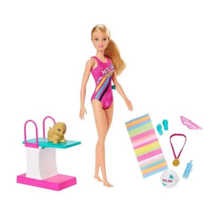 Boneca Barbie Nadadora Matte
