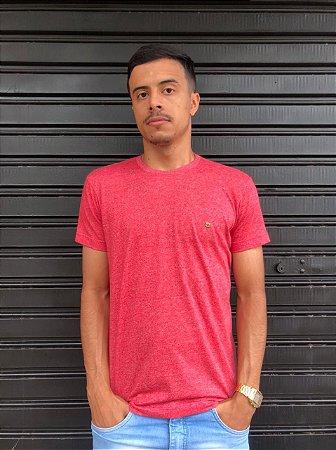 Camiseta Basica Vermelha Mescla