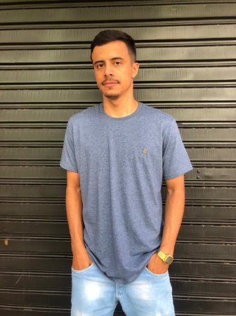 Camiseta Basica Azul Mescla