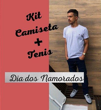 KIT NAMORADOS CAMISETA + TENIS CASUAL