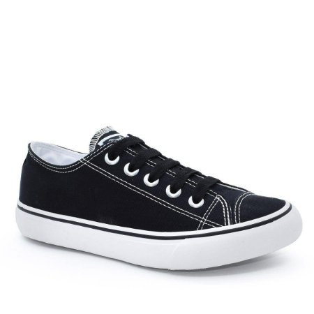 Tênis Capricho Shoes Like Canvas Preto/Branco
