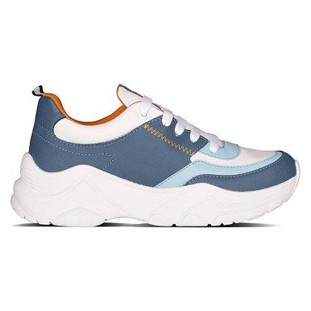 Tênis Capricho Shoes Screen Rush Branco/Azul/Laranja