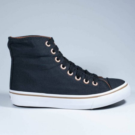 Tênis Capricho Shoes Likes Canvas Hi Preto/Cobre