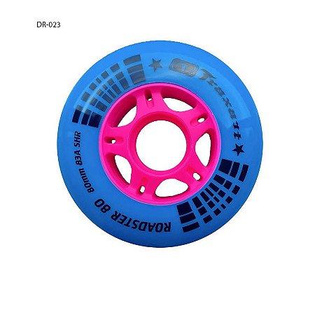 JOGO DE RODAS INLINE FITNESS TRAXART ROADSTER 80 80MM/83A Azul
