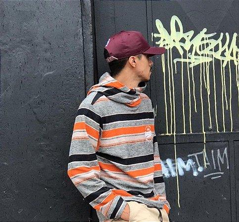 Suéter Tricot HD Capuz Transpasse
