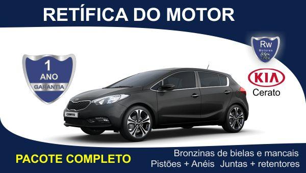 Retífica de Motor Kia Cerato 1.6 4cc 16v Pacote Completo