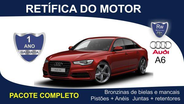 Retífica de motor Audi A6 4 cilindros 16v Pacote Completo
