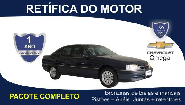 Retífica de motor Chevrolet Omega GLS 2.2 Pacote Completo