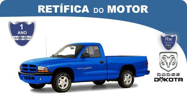 Retífica de motor Dodge Dakota Pacote Econômico
