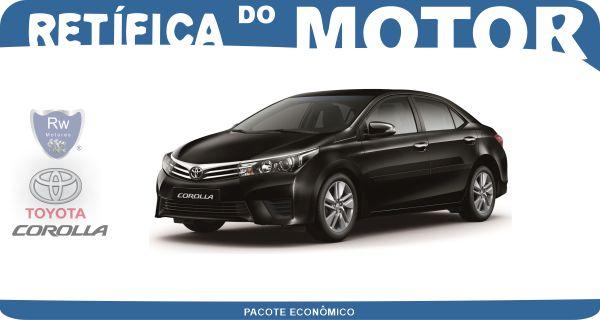 Retífica de motor Toyota Corolla Pacote Econômico