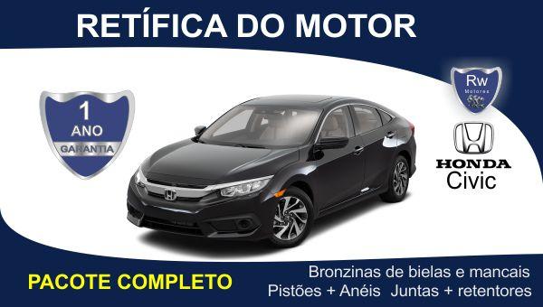 Retífica de motor Honda Civic pacote completo