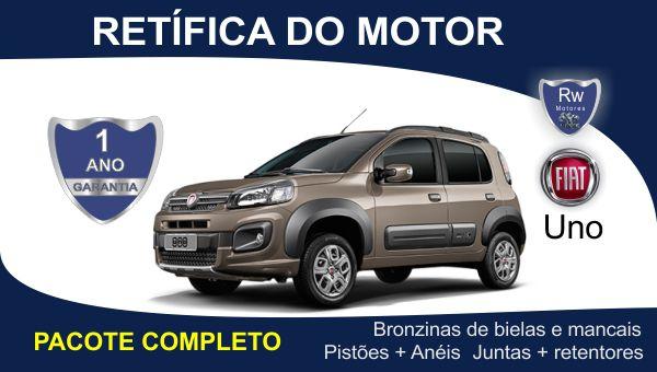Retífica de motor Fiat Uno pacote completo